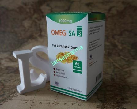 Omega fish oil softgel